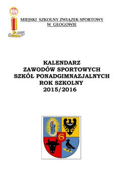 Kalendarz imprez sportowych na rok szkolny 2015/2016