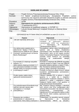 Projekt Projekt Ochrony Przeciwpowodziowej Dorzecza Odry i Wisły