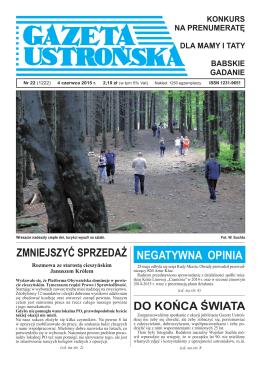 22/2015 - Archiwum Gazety Ustrońskiej