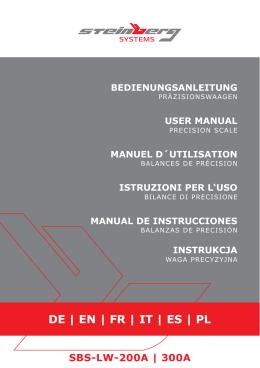 Instrukcja obsługi - Wagi elektroniczne