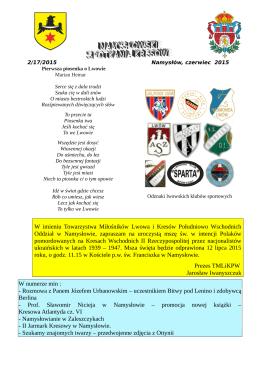 namysłowskie spotkania kresowe 2/17/2015 - namyslow