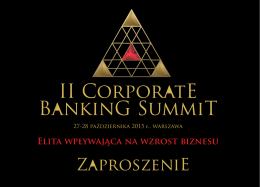 II CorporatE BankinG SummiT