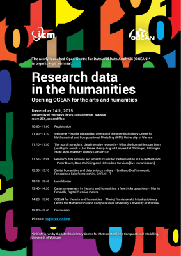 Research data in the humanities