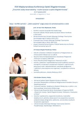 XVIII Międzynarodowa Konferencja Opieki Długoterminowej