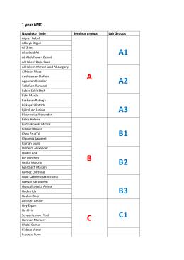 A A1 A2 A3 B B1 B2 B3 C C1