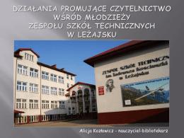 Prezentacja Pani Alicji Kozłowicz