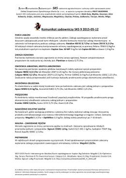 Komunikat sadowniczy SKS 9 2015-05-12