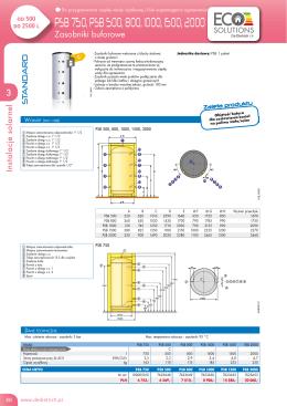 Dane techniczne zasobniki PSB
