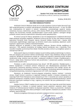 Pobierz PDF - Krakowskie Centrum Medyczne