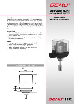 Elektryczny czujnik sygnalizacji pozycji