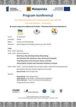 zobacz program - Business in Małopolska