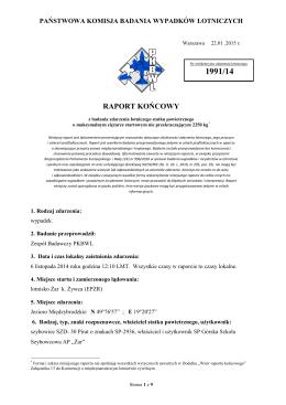 Raport końcowy 1991/14 - Portal · dlapilota.pl