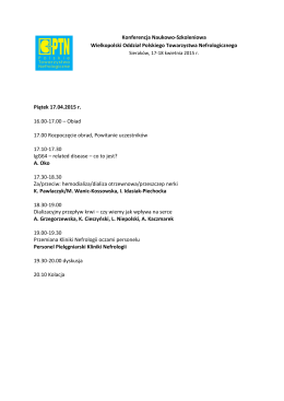 Konferencja Naukowo-Szkoleniowa Wielkopolski Oddział Polskiego