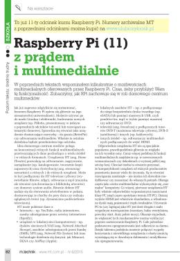 Raspberry Pi (11) z prądem i multimedialnie