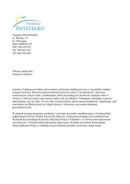 Pobierz PDF - Fundacja Światełko