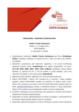Regulamin uczestnictwa - pdf.