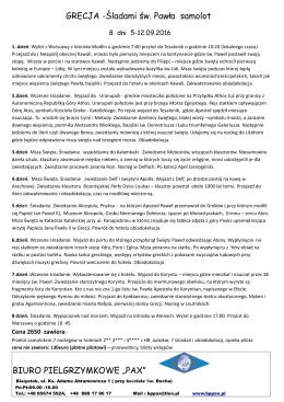 GRECJA - Biuro Pielgrzymkowe PAX