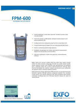 Specyfikacja FPM-600