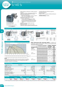 Dane techniczne G 40 S