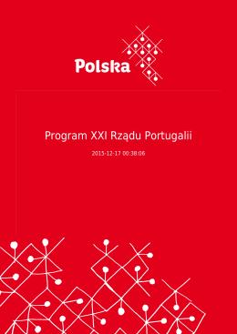 Program XXI Rządu Portugalii