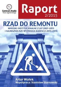 Rząd do remontu - Centrum Analiz Klubu Jagiellońskiego