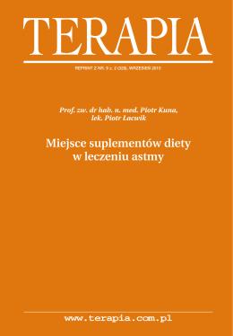 Prof. P. Kuna Miejsce suplementów diety w leczeniu astmy