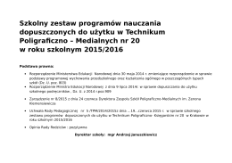Programy nauczania w Technikum Poligraficzno