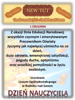 Dzień Nauczyciela - Liceum Ogólnokształcące w Rudniku nad Sanem