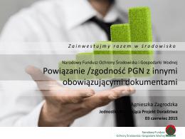 zgodność PGN z innymi obowiązującymi dokumentami