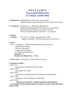 regulamin - Zespół Szkół w Czerwionce