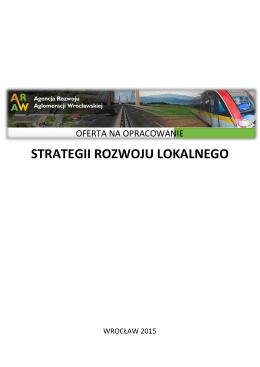 Oferta na dokumenty strategiczne - Agencja Rozwoju Aglomeracji