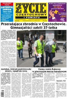 Przerażająca zbrodnia w Częstochowie. Gimnazjaliści zabili 37