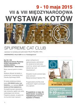 WYSTAWA KOTÓW - Supreme Cat Club