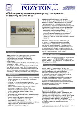 Elektroniczny 3-fazowy licznik energii elektrycznej czynnej i biernej