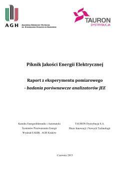 Raport z eksperymentu pomiarowego