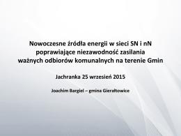 Nowoczesne źródła energii w sieci SN i nN