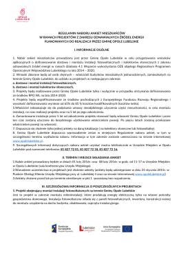 Regulaminie - Urząd Miejski w Opolu Lubelskim