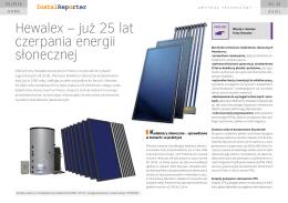2015.05: Hewalex - już 25 lat czerpania energii słonecznej