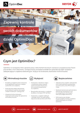 OptimiDoc 5 - General leaflet - Xerox - PL