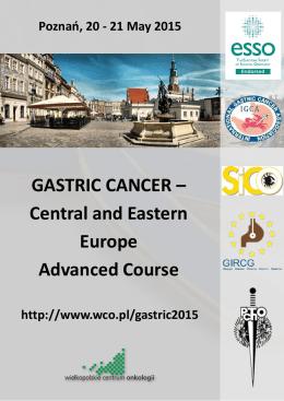 GASTRIC CANCER - Wielkopolskie Centrum Onkologii