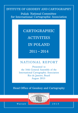 cartographic activities in poland 2011 2014