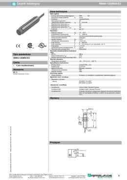 1 Czujnik indukcyjny NBN4 12GM50 E3
