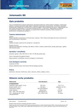 Karta techniczna Jotamastic 80