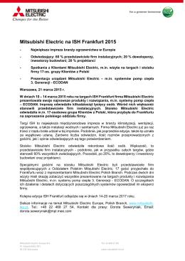 Mitsubishi Electric na ISH Frankfurt 2015