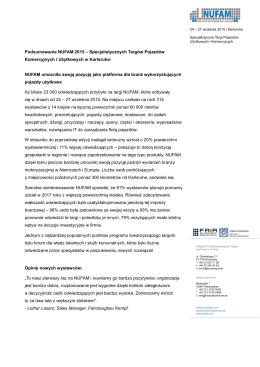 Podsumowanie NUFAM 2015 – Specjalistycznych Targów