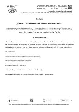Pobierz regulamin i dokumentację konkursową ()