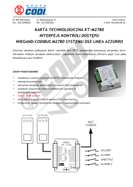 M2780 Interfejs RFID Wiegand