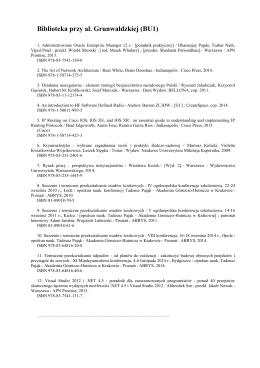 Lista zakupionych tytułów czerwiec 2015