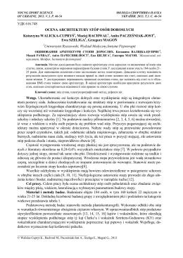 УДК 616.748 OCENA ARCHITEKTURY STÓP OSÓB DOROSŁYCH