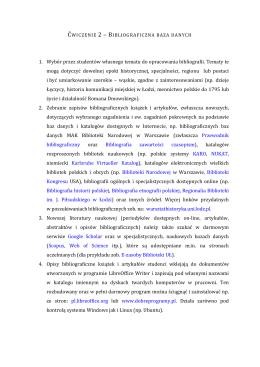 własna bibliografia - Warsztat historyka